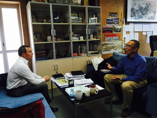 Conversation with Dr Hu in his office