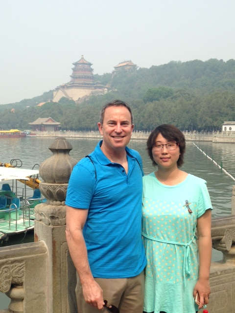 Ted and Hong at Summer Palace