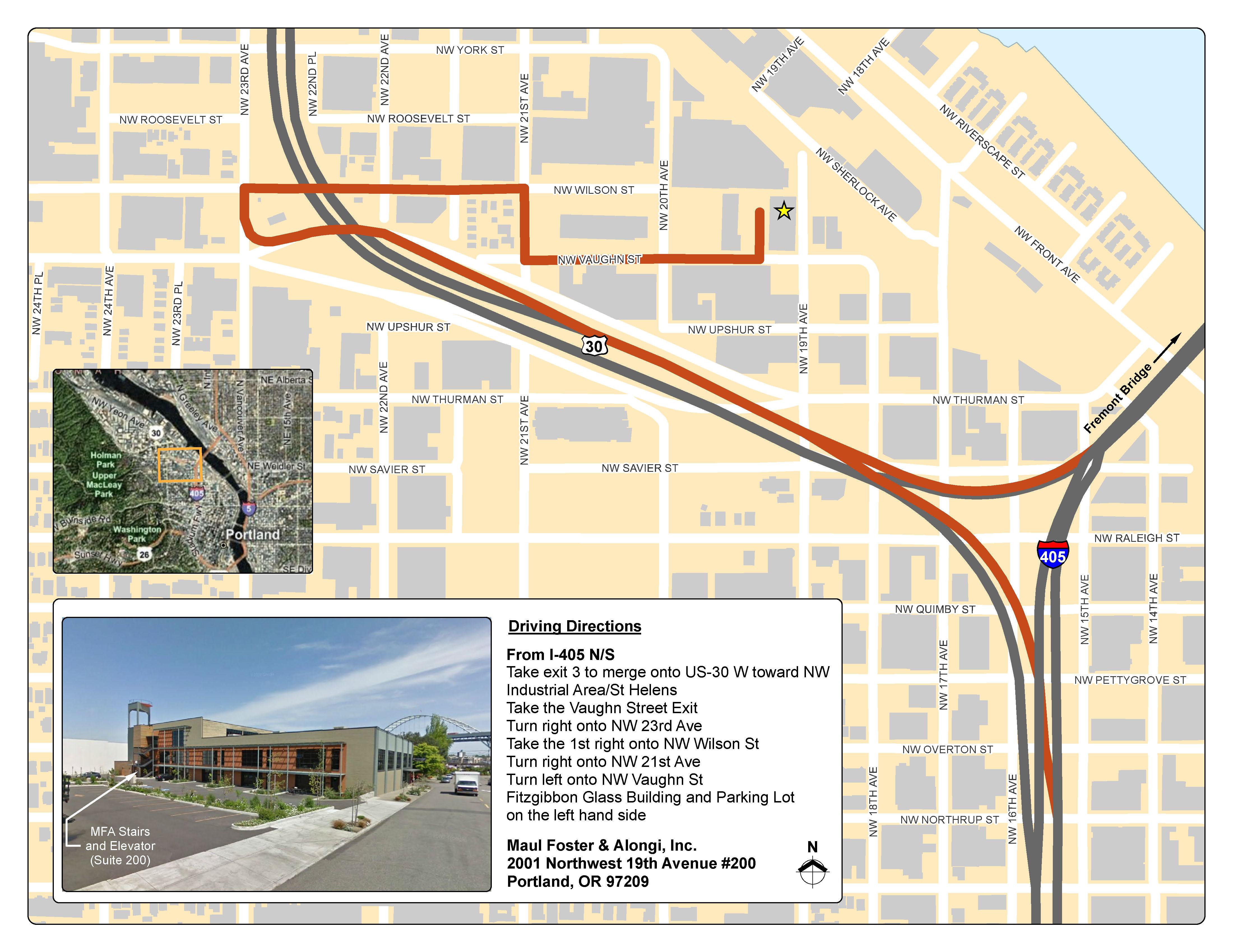Portland Office Map