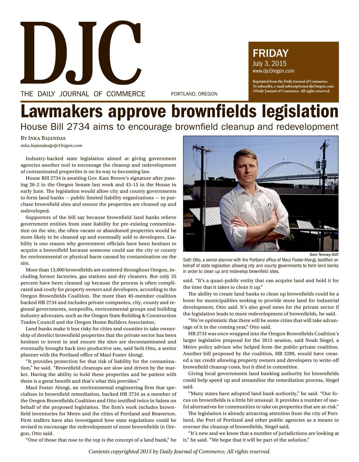 2015.07.03 OR DJC Seth & Brownfield Legislation