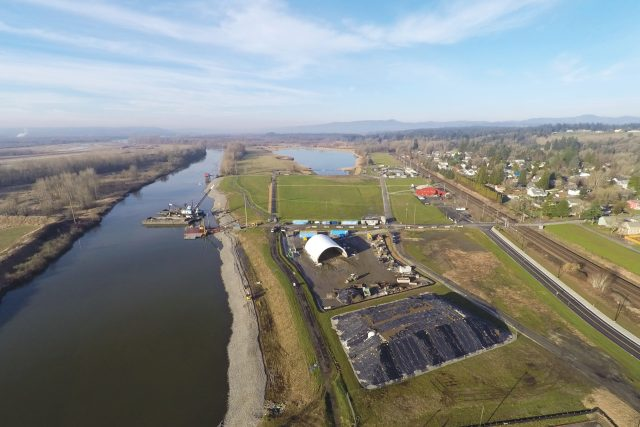Aerial imagery of Port of Ridgefield Waterfront Revitalization | MFA