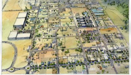 City of Spokane Hillyard Redevelopment Master Plan Rendering
