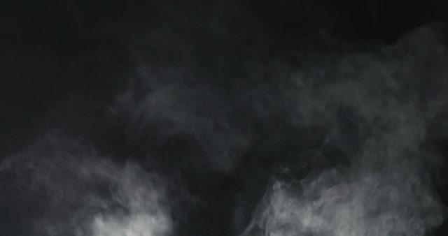 Vapor plume on black background