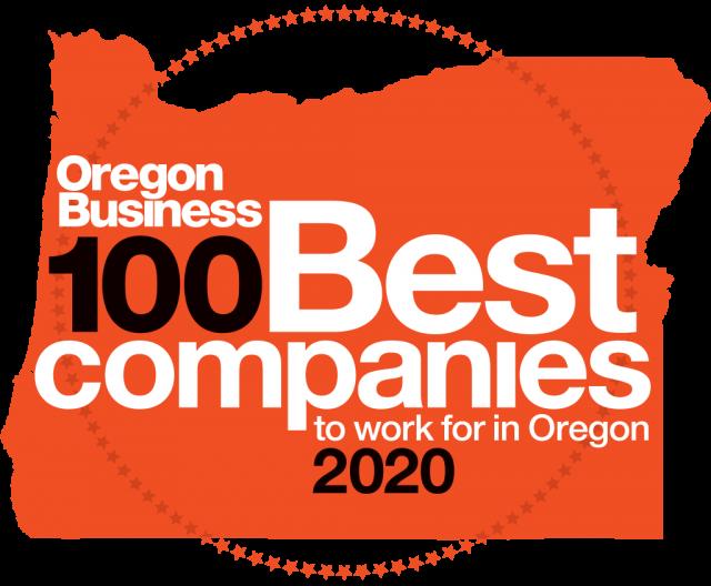 Oregon Business 100 Best Companies Award Emblem