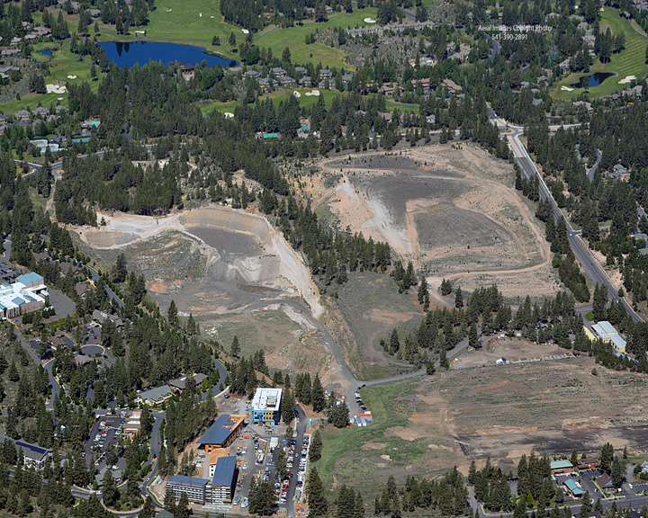Pumice Mine and Landfill Area from Aerial View