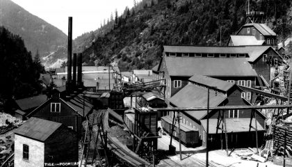 Former Mining Town in the Silver Valley of Idaho