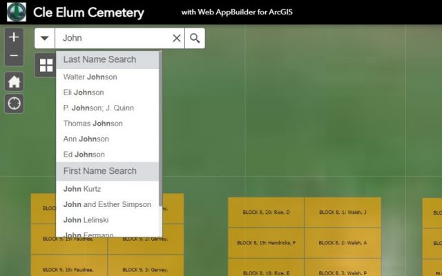 Search bar shows a list of Johns in the database.